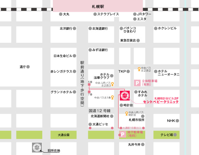 St. Baby Clinic Map